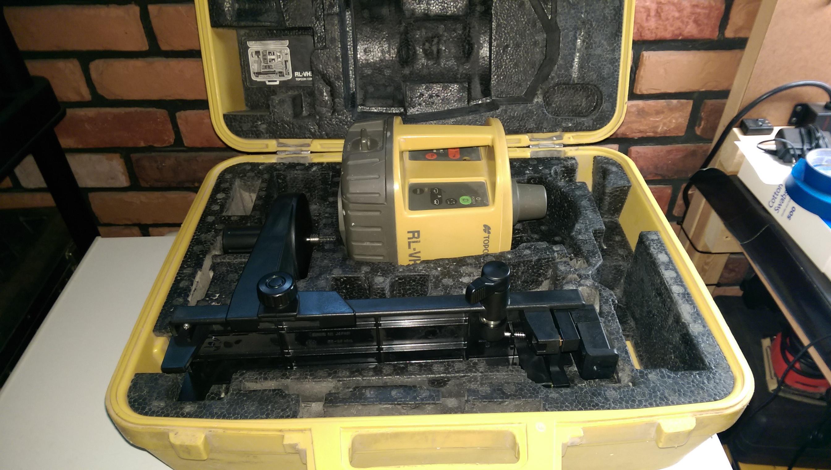 Topcon Rl Vh3c Laser W Wall Mount Elite Laser Repairs